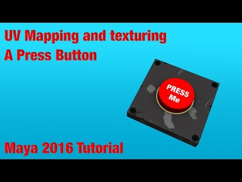 UV MAPPING AND TEXTURING A PRESS BUTTON