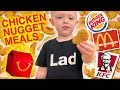 Kid tasting fast food chicken nugget meals 🐔🍟