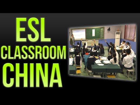 ESL Class in China - Teaching Maths in Middle School