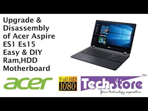 Acer Aspire ES 15 Laptop ES1 531 511 521 571 How to Upgrade ram and harddrive easy