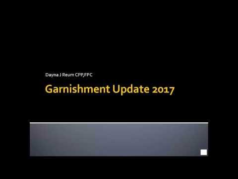Garnishment Update 2017