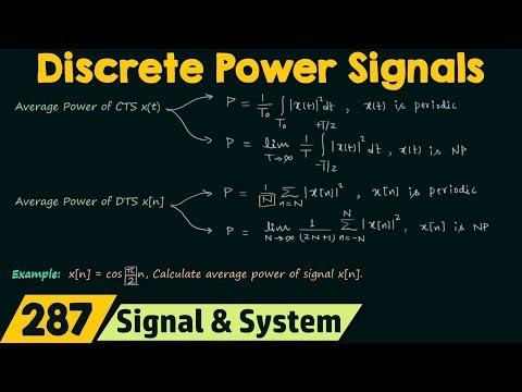 Discrete Time Power Signals