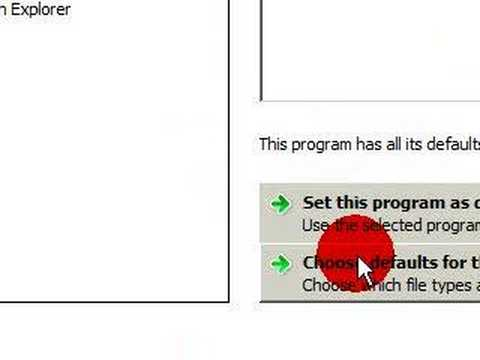 Vista/Xp quick Tip: Setting program/extention defaults