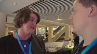 Owen Jones meets Arlene Foster at the Conservative conference