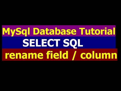 How To Rename Field Name in Table By Using Select Query - MySql Database Bangla Tutorial Part 6