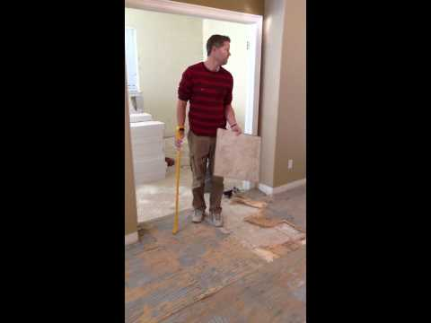 Video #7 How to Remove Tile Floor and Plywood to Reach Subflooring