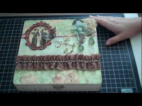 Altered Cigar Box & A storage idea for 6x6 paper packs