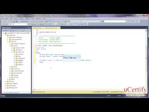 ms sql server 2012 how to create triggers demo