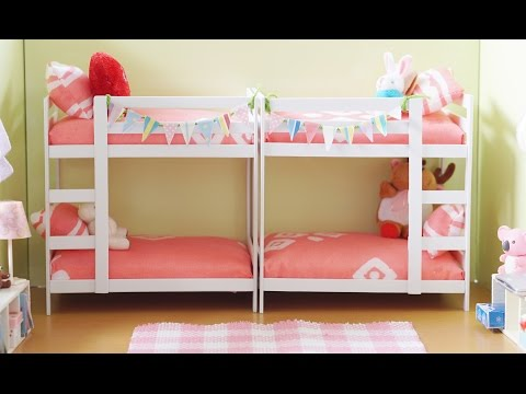 DIY Miniature Bunk Bed Tutorial for Dolls, Nendoroid and Action Figures
