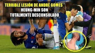 Terrible Lesión de André Gomes ● Heung-Min Son Expulsado rompe en llanto| HD ⚽