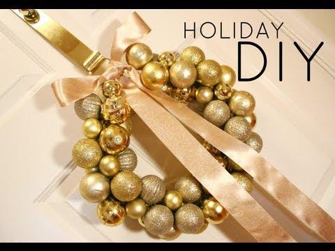❉ DIY Christmas Ornament Wreath Tutorial ❉