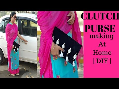 How to make Clutch Purse at Home || How to make Designer Purse with Simple Steps || Reet Designs