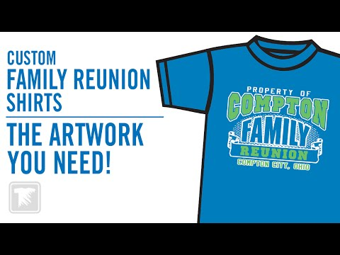 Print Custom Family Reunion T-Shirts