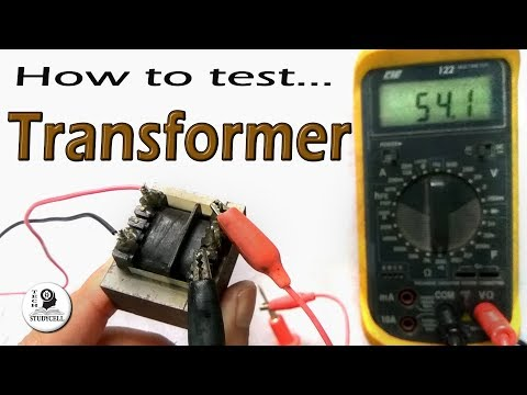 How to test a Transformer using digital multimeter