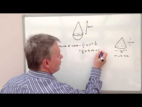 How to calculate the volume of a cone and hemisphere