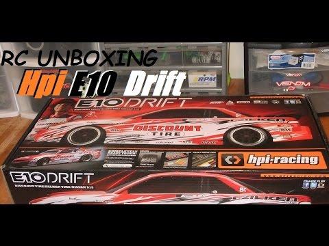 RC Unboxing: Hpi E10 Dai Yoshihara S13 drift car