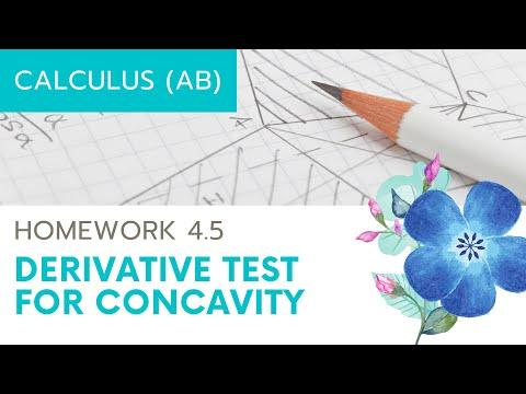 Calculus AB Homework 4.5: Second Derivative Test