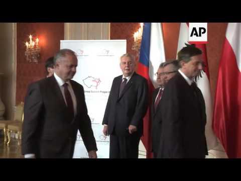 Presidents of Poland, Hungary, Slovakia, Czech meet Slovenian and Austrian counterparts