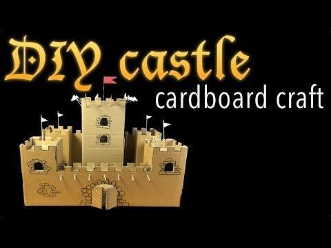 Make amazing cardboard castle DIY easy
