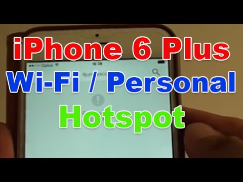 iPhone 6 Plus: How to Enable Wi-Fi / Personal Hotspot For Internet Sharing