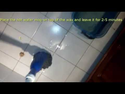 Tile Cleaning Tips part 2: Removing Spilt Depilation Wax from Bathroom Tiles