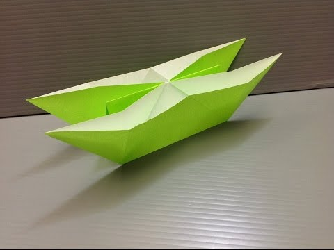 How to make a double boat using origami paper | Paper Craft | Origami Paper | Easy Craft