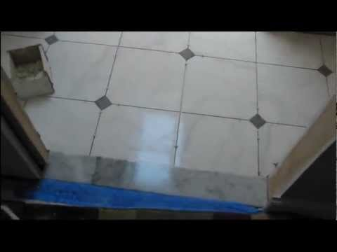 How to install Ceramic tile floor with dots.