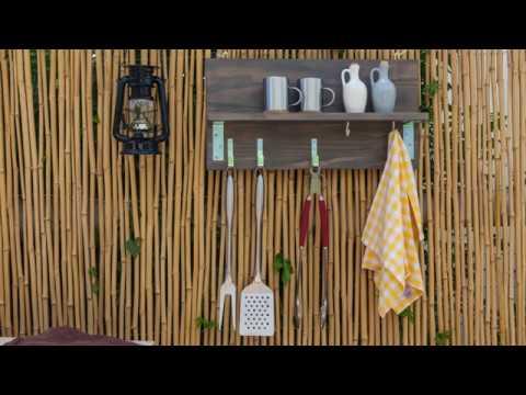 Make a hanger for braai tools