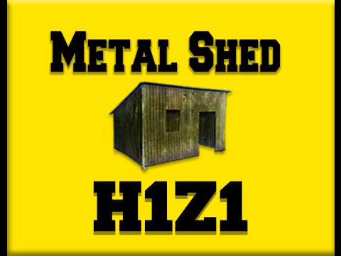 H1z1 Metal Shed erstellen | How to make a Metal Shed