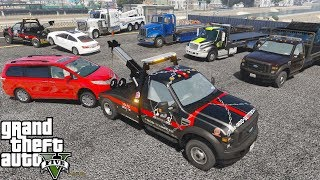 GTA 5 Firefighter Mod Tiller Ladder Firetruck Responding To