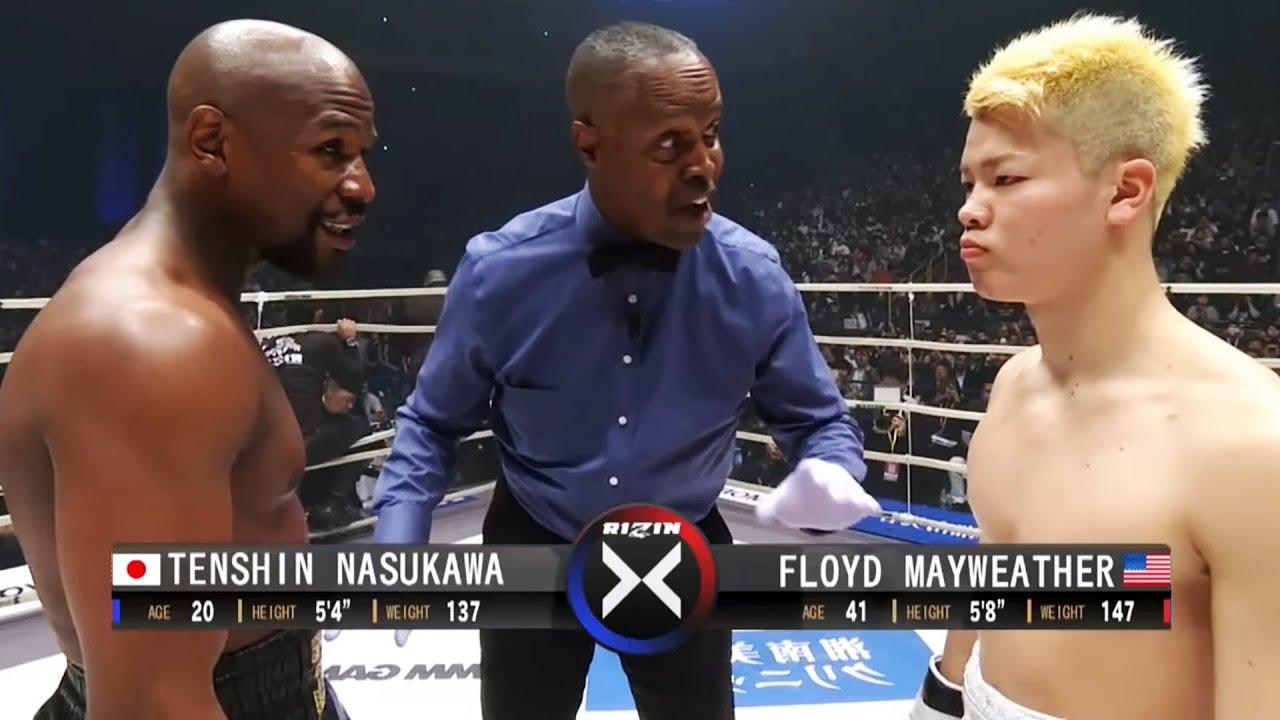 Floyd Mayweather (USA) vs Tenshin Nasukawa (Japan)   KNOCKOUT, BOXING fight, HD