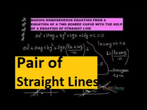 iit jee maths video lectures Pair of straight lines