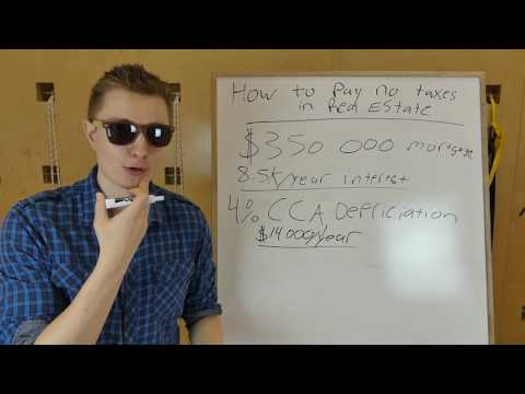 How to Pay No Taxes Through Real Estate Legally - Depreciation - Capital Cost Allowance