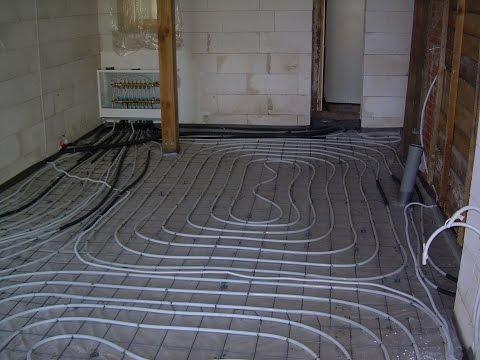 Underfloor Heating With Warm Water
