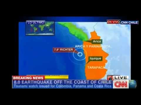 8.0 earthequake hits off coast of Chile