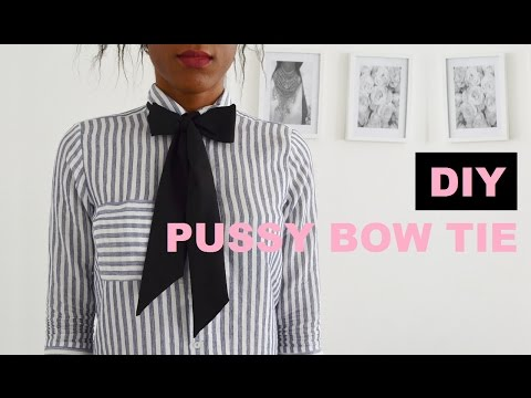 DIY ACCESSORY | HOW TO MAKE A PUSSY BOW TIE