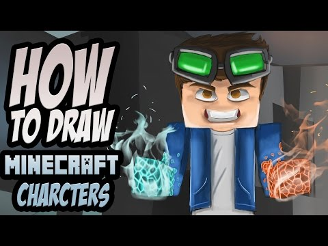 How to draw Minecraft Characters! [Geologistt] Photoshop Tutorial