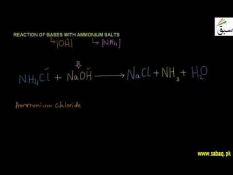 Reaction of Ammonium Salts with Bases