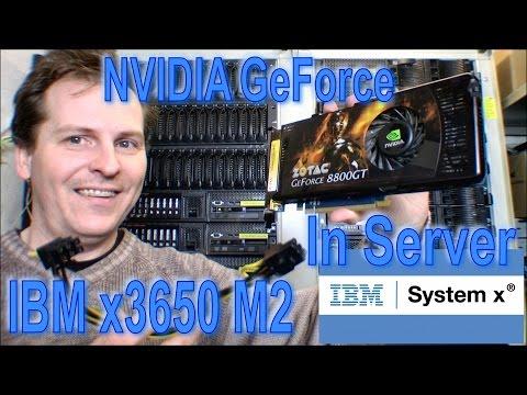 NVIDIA GeForce graphic card install IBM x3650 M2/3 - 191