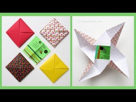 Origami Envelope -Menko :: Sobre Cuadrado