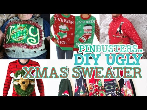 DIY Ugly Christmas Sweater // MAKE YOUR OWN UGLY SWEATER!