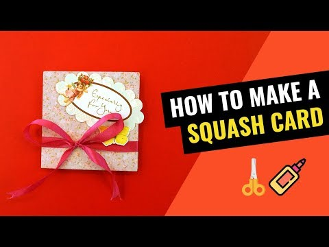 How to make Squash Card for Scrapbook (simple and easy tutorial)