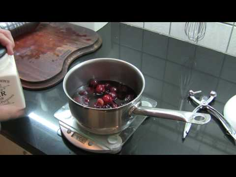 Parfait part 6 - Preparing the cherry and red win sauce