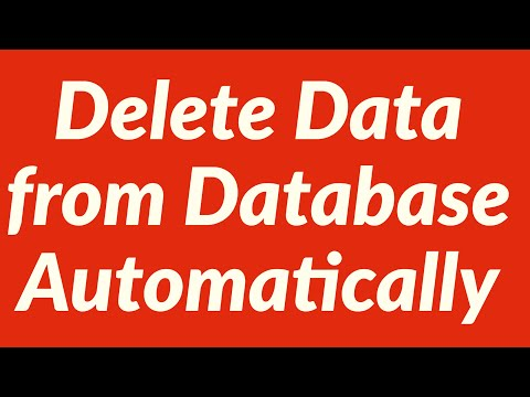Delete Data from Database Automatically