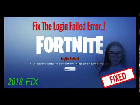 HOW TO FIX LOGIN FAILED ERROR FORTINITE BATTLE ROYALE (3 EASY WAYS)