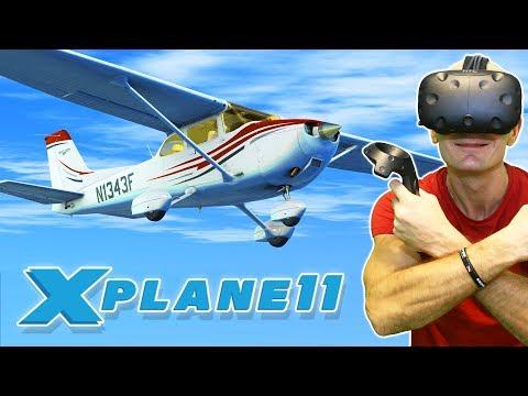 BEST VR FLIGHT SIMULATOR 2017? | X-Plane 11 VR Gameplay (Native VR Support)