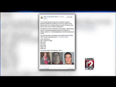 Suspect responds to Butler County Sheriff's Office Facebook warrant