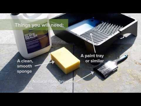 How to seal natural slate tiles (satin gloss sealer) - SC4U Essential Range