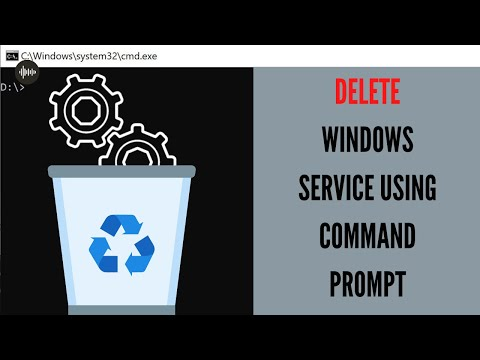 How to delete any Windows Service