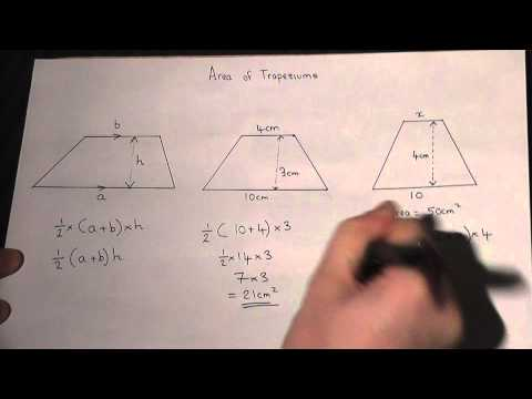 Area of a Trapezium : How to Calculate the Area Easily : Maths Revision Video